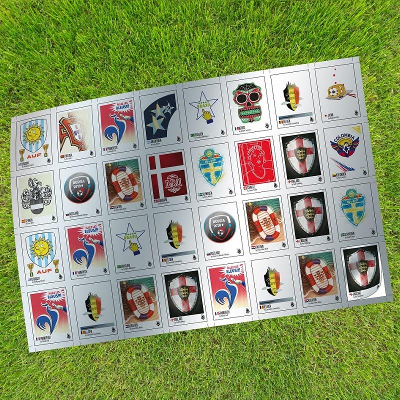 tschutti 2018 Final-Stickerbogen